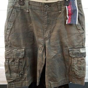 UNIONBAY 34W Camo Green Cargo Shorts